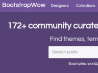 Bootstrapwow - Version 2 - Homepage Redesign