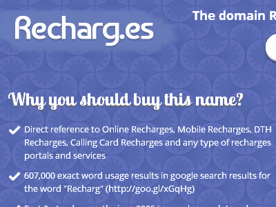 Recharg.es and twibuy.com etc on sale at flippa