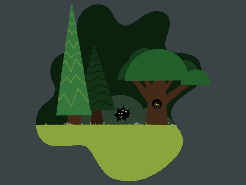 Lost in the Woods funny dark monsters fun design illustrator artist procreate illustration digital painting digital illustration digitalart