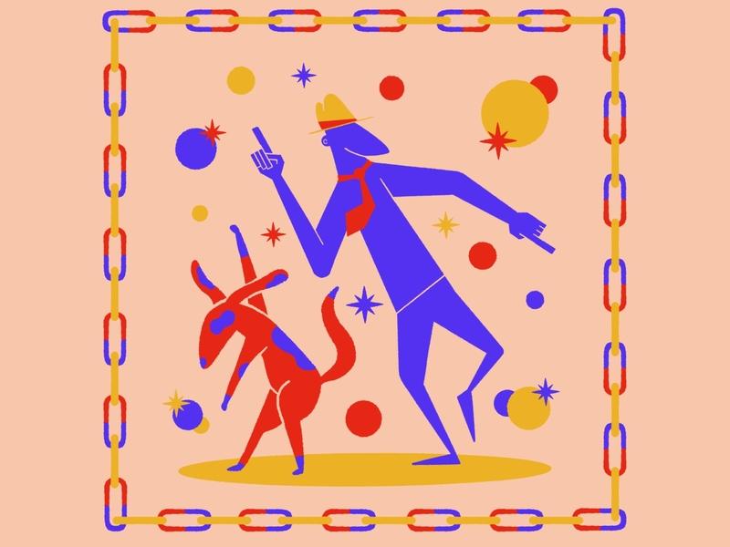 Dancing in Lockdown dogs fun illustrator artist procreate illustration digital painting digital illustration digitalart design
