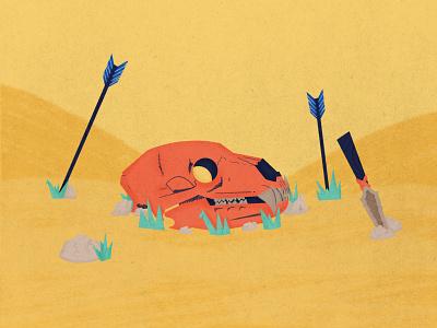 Forgotten Hunt gritty tribal design true grit texture supply illustrator digitalart procreate illustration digital painting digital illustration skull