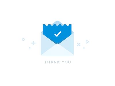 Success illustration success illustration geometric envelop mail confirmation thank you confirm subscription
