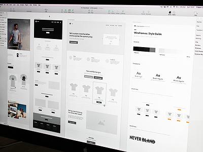Neverbland Deliverable Deck sketch mockup design ux proposal deck presentation wireframes