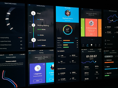 Ski Digital Coaching App dashboard dark colours ui coach technical stats sport digital app ski