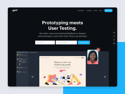 Make better design decisions with User Testing animation landing page user test prototyping marvelapp design test user testing