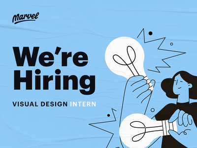 We're hiring a visual design intern internship design hiring