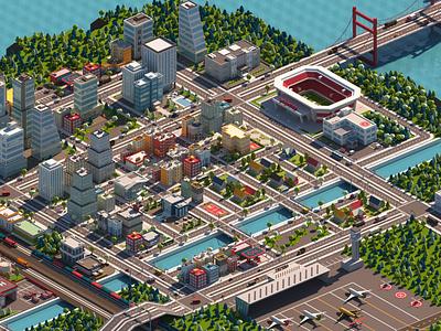 Cartoon City Pack 3d modeling game development cartoon city cartoon
