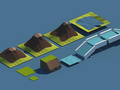 Cartoon Environment cartoon game development enviroment cartoon city 3d modeling render lowpoly 3d