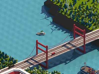 Cartoon cartoon game development enviroment cartoon city 3d modeling render lowpoly 3d