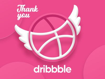 Thankyou Dribbble thank you invite dribbble hello