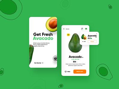E-commerce App shopping avacado app new modern app new design motion graphics motion app design modern app app e-commerce app app concept app design