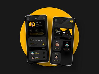 App_Profile_design graphic design design cool app modern app new modern design new app new app design app concept app design ui