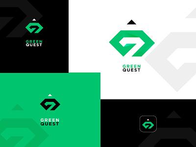 logo_green_quest logo 3d quest logo green logo new design modern logo design new logo design logo design