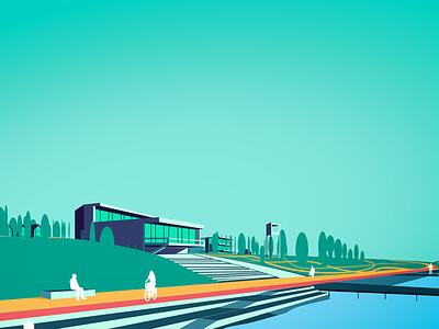 Vector Illustration architectural visualization architectural rendering architecture design illustration vector graphic design