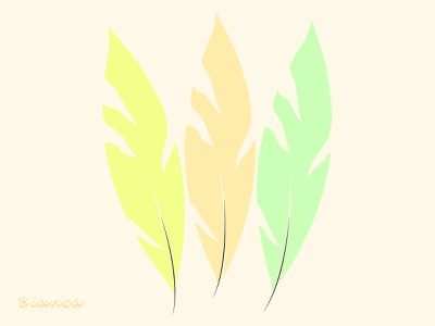 Delicate feathers drawing design illustration