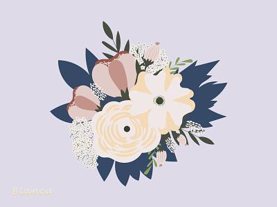 Floral bouquet 💐 illustration design drawing