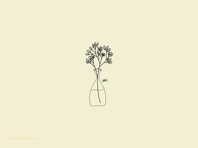 Today's the time for sage 🌿 minimal design flat botanical illustration botanical art illustration drawing