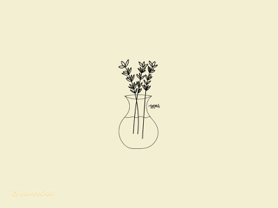 Today's the time for thyme 🌿 minimal flat botanical illustration botanical art illustration drawing design