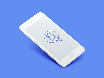 mark line art app parrot bird line logo