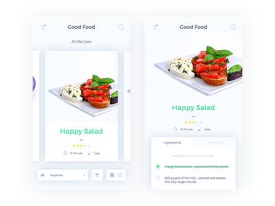Recipe App card list mobile apps ux ui ios recipe