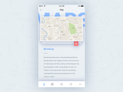 City Apps city maps bandung apps mobile ux ui
