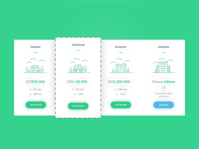 Pricing apps ux ui lineart building price pricing