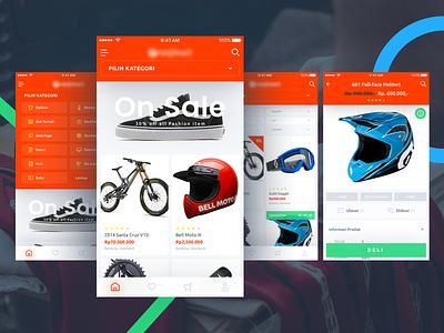 Marketplace Ui clean list product dropdown card orange ios store shop shopping ecommerce marketplace