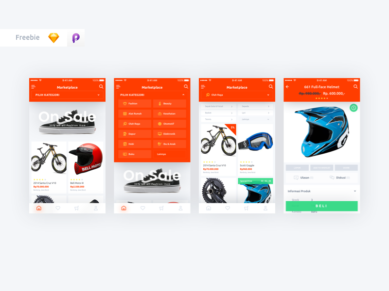 Download Freebie Marketplace Ui