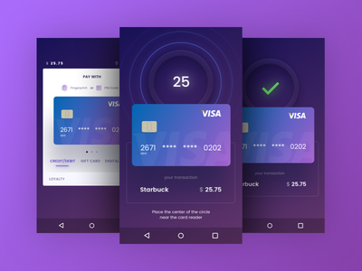 Quickpay Widget payment gradient widget bank pay android material credit card