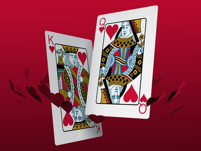 Casino Valentine's casino poker king queen hearts cards playing card valentines