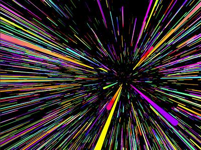 005_PBP_RayTracer experiment practice c4d particles explode explosion paint splat ray color colour