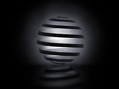 007_PBP_Peel interior pendant lamp light volumetric tracer spiral peel sphere practice c4d