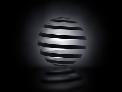 007_PBP_Peel interior pendant lamp light volumetric tracer spiral peel sphere practice c4d