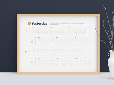 Yesterday, Interactive Calendar poster yesterday year rating rate past diary personal infographic 2017 calendar