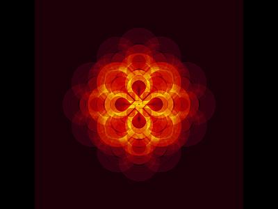 Geometric Experiment mandala sacred rotation layering fire blending geometry abstract