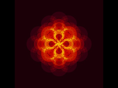 Geometric Experiment mandala sacred rotation layering fire blending geometry abstract