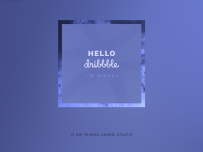 First Shot welcome hello dribbble player invite thanks first shot