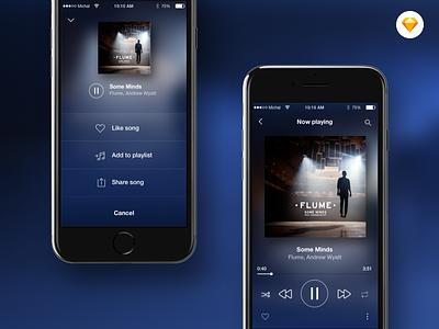 Music player ui design sketch app sketch concept music player player music app