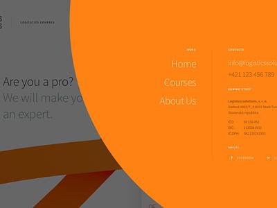 Landing page concept principle business training business courses orange sketch prototype web design ux ui