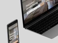 Real estate website concept design ui web website clean simple sketch landing real estate