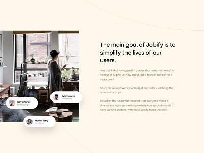 Job agency -  landing page visual design webdesign minimal creative homepage shot landing simple clean website web ui design