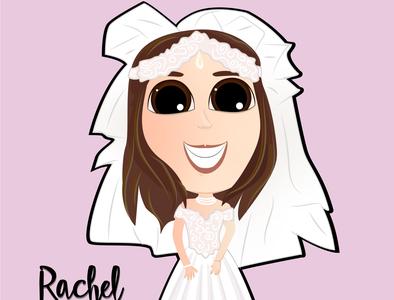 RACHEL GREEN illustration design illustrator caricatura