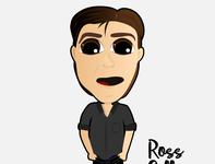 ROSS GELLER design illustration illustrator caricatura