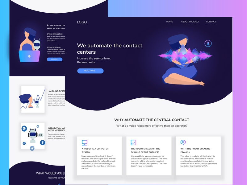 Landing page design website ux inspiration landing page minimal ui flat vector design web illustration