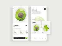 Fruits And Vegetables App ux ui health vegetables fruits food app web design flat illustration