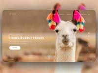 TRAVEL Landing page adventure travel typography design landing page minimal ux ui web