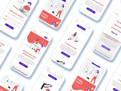 SendHelp Quarantine App website web app typography ux vector branding ui design illustration