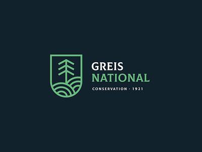 Greis National Conservation Logo & Identity art icon minimal vector logo illustrator illustration design branding app