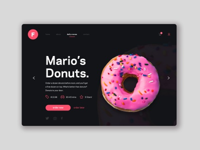 FoodWhips UI Design minimal vector art website web ux ui design branding app