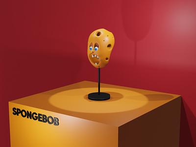 SpongeBob Nightmare art animation logo minimal illustrator branding app illustration design 3dart blender 3d